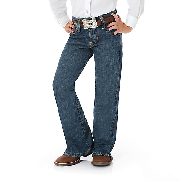 Girl's Wrangler® Cowgirl Cut® Ultimate Riding Jean Cash (7-14)
