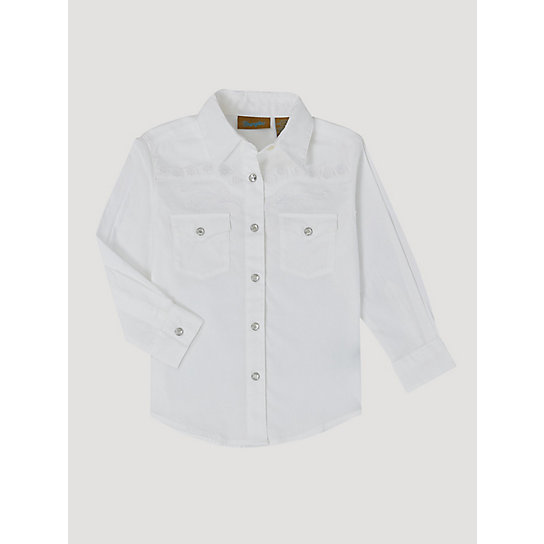 girls classic long sleeve western snap shirt girls
