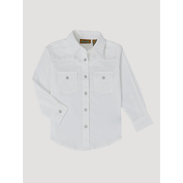 White Girls Dress Shirt