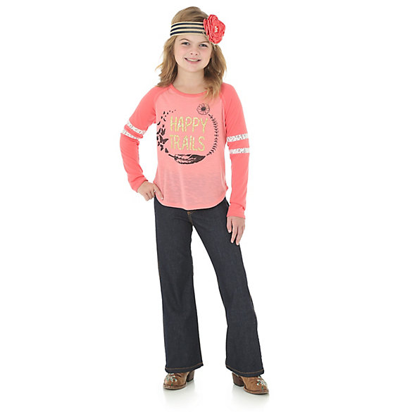 Girl's Long Sleeve Happy Trails Shirt