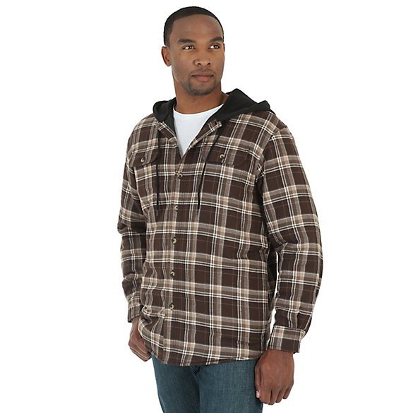 Wrangler® Quilted Lining Hooded Shirt Jacket (Big Sizes)