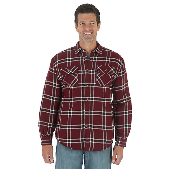 Wrangler® Heavyweight Lined Shirt - Tawny Port
