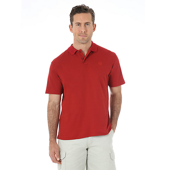 Wrangler® Advanced Comfort Solid Knit Polo