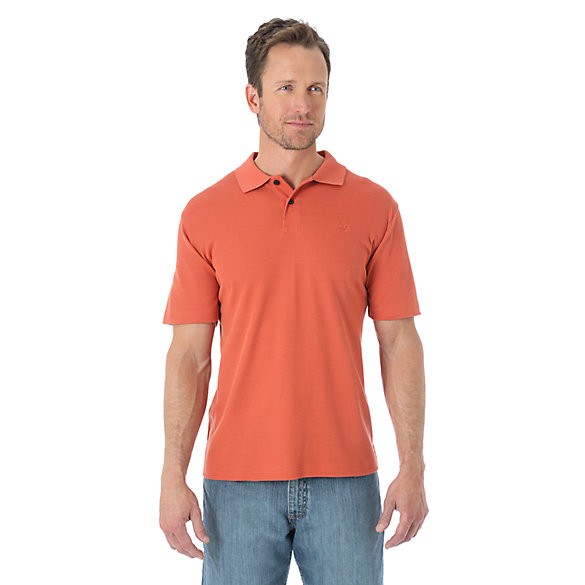 Wrangler® Advanced Comfort Solid Knit Polo - Mecca Orange