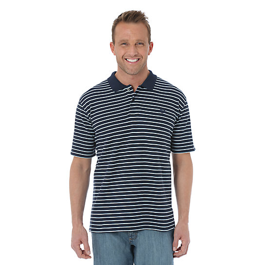 Wrangler® Advanced Comfort Striped Knit Polo
