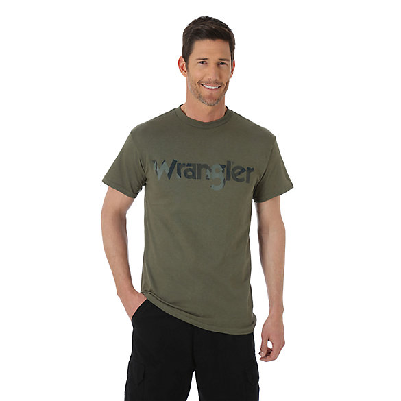 Wrangler® Screenprinted Short Sleeve Camo Logo Tee (Big Sizes)