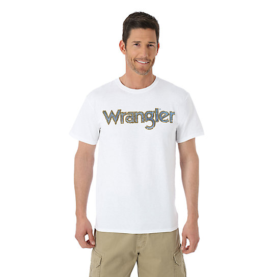 Wrangler® Faux Denim Applique Short Sleeve Tee (Big Sizes)