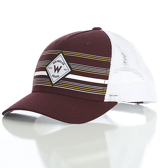 Men's Striped Trucker Cap