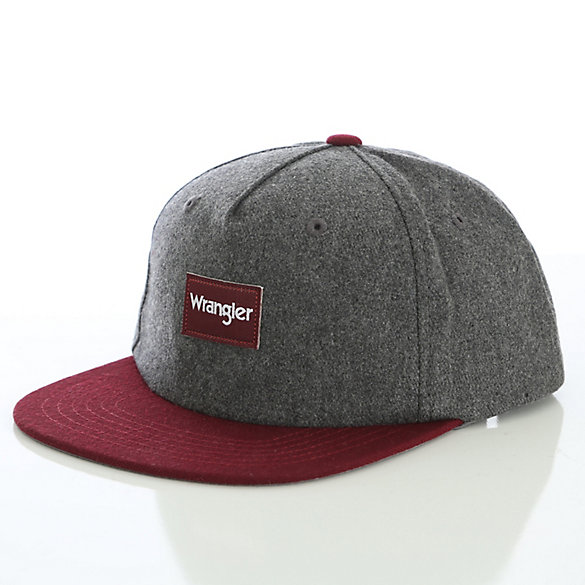 Men's Melange Wool Flat Bill Snapback Cap