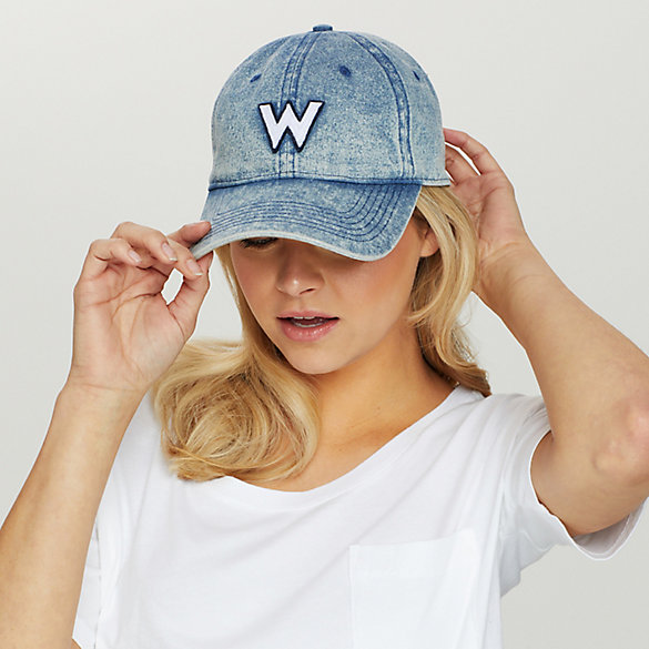 Women's Vintage Washed Denim Cap