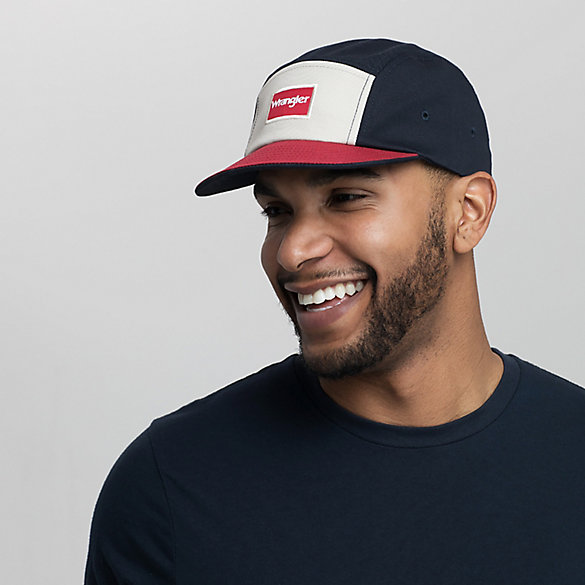 Men's Retro Colorblock 5-Panel Flatbill Cap