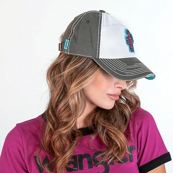 Women's Distressed Cactus Patch Cap