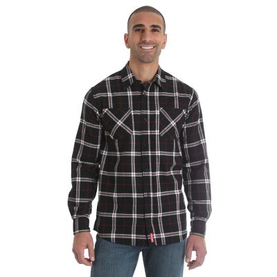 Men 39 S Wicking Long Sleeve Button Down Flannel Plaid Shirt