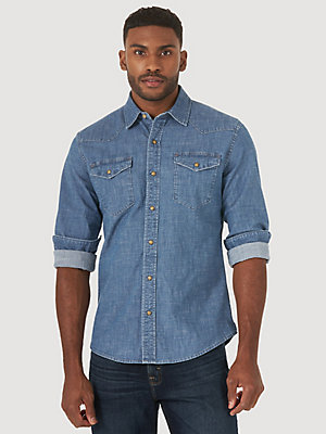 Men's Comfort Flex Denim Shirt