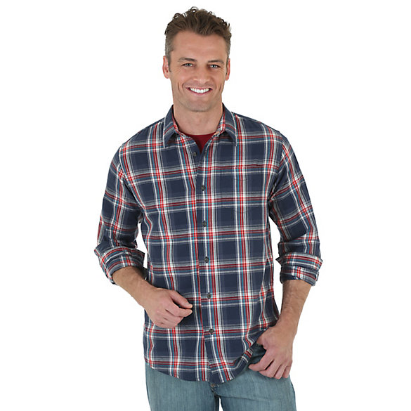 Wrangler Jeans Co.® Long Sleeve Button Down Plaid Shirt | Wrangler