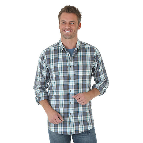 Wrangler Jeans Co.® Long Sleeve Button Down Plaid Shirt