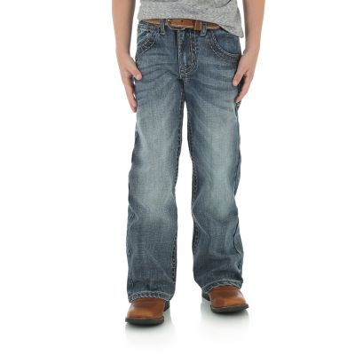 Boy S Rock 47 174 By Wrangler 174 Boot Cut Jean 4 7 Boys