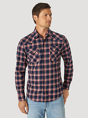 Men's Western Plaid Flex Shirt