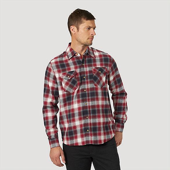 Men's Wrangler® Western Snap Plaid Flannel Shirt | Wrangler®