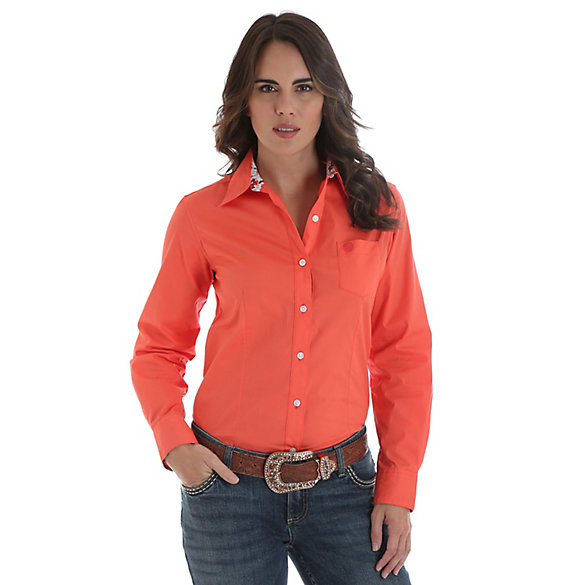 George Strait for Her Button Down Solid Top