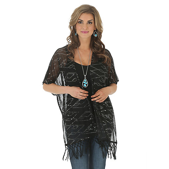 Women's Rock 47® by Wrangler® Kimono Style Allover Sequins Cardigan