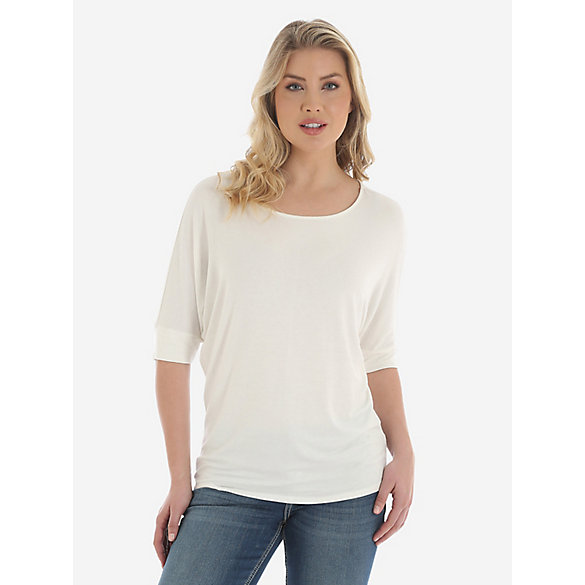 Rock 47® by Wrangler® Dolman Sleeve Solid Tunic - Vanilla Ice