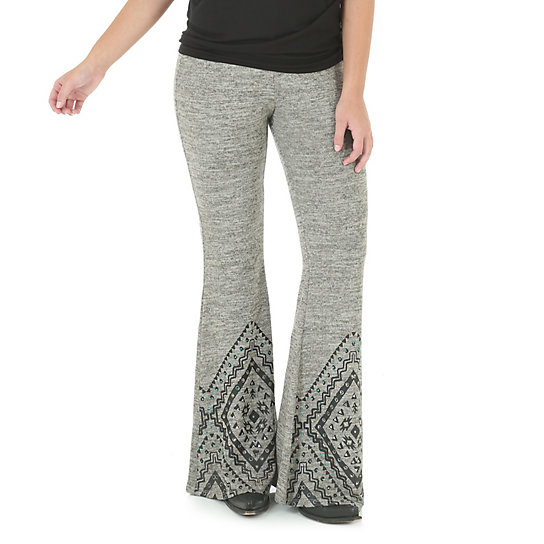 French Terry Fit and Flare Pant