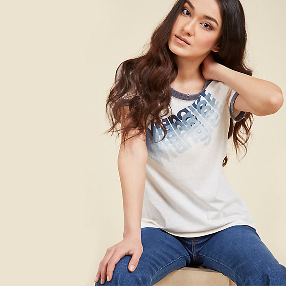 Modcloth x Wrangler® Short Sleeve Ringer Tee (Plus Sizes)