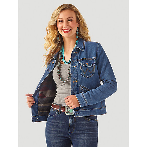 Women's Wrangler Retro® Premium Blanket Lined Denim Jacket