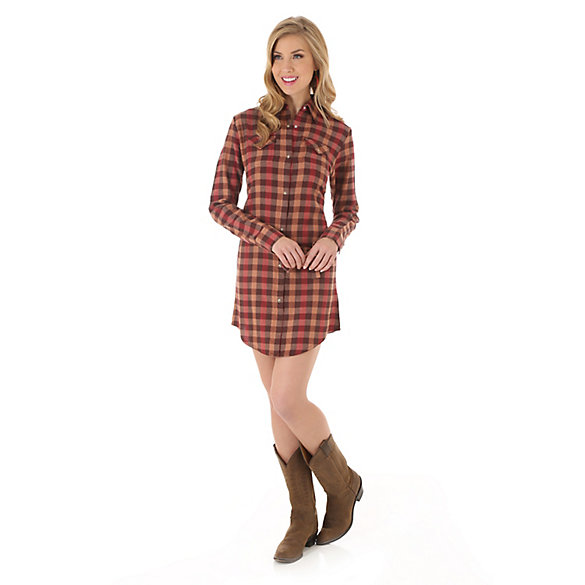 As Real As Wrangler® Flannel Shirt Dress