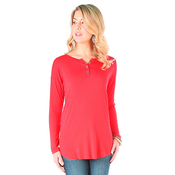 Women's As Real As Wrangler® Long Sleeve Knit Henley