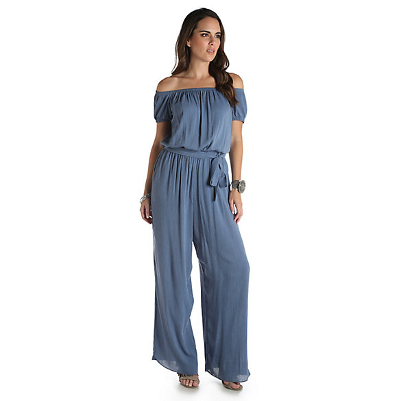 Women's Off-the-Shoulder Wide Leg Jumpsuit