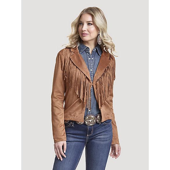 Women's Wrangler Retro® Faux Suede Fringe Jacket