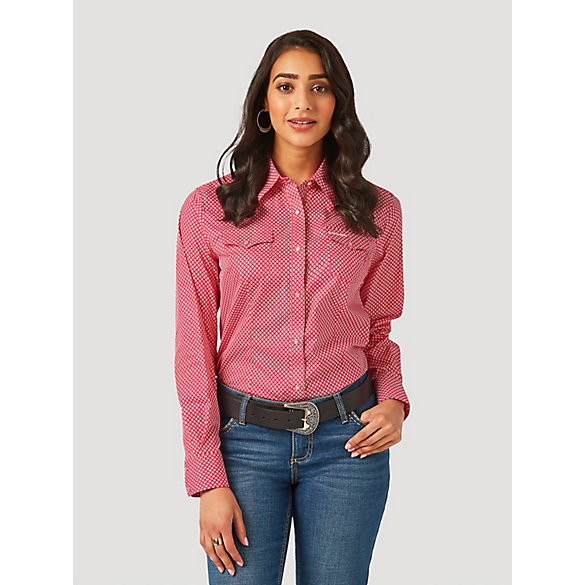 Women's Tough Enough to Wear Pink™ Poplin Print Shirt