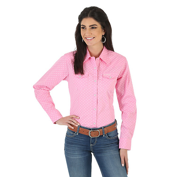 Women's Tough Enough To Wear Pink™ Long Sleeve One Point Yokes Printed Top