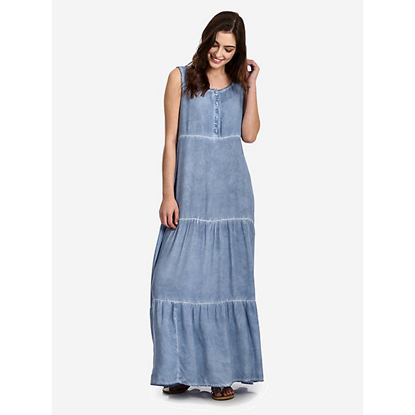 63b5a19de911 Women's Sleeveless Tiered Hem Maxi Dress | Womens Dresses and Skirts ...