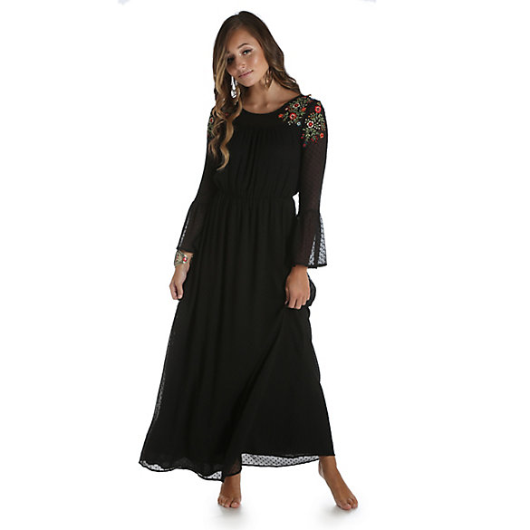 Women's Eyelet Mesh Maxi Dress | Womens Dresses and Skirts by ...