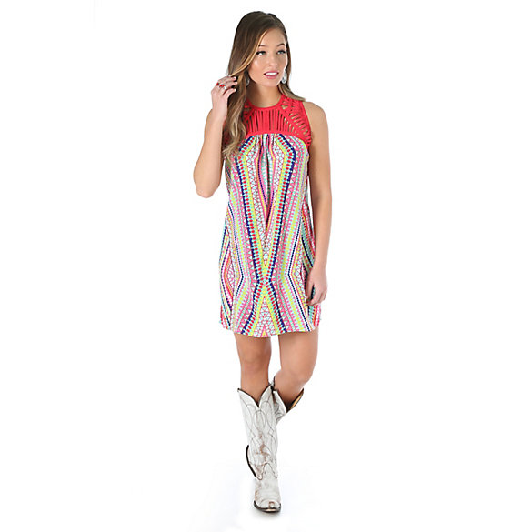 Women's Sleeveless Printed A-Line Dress