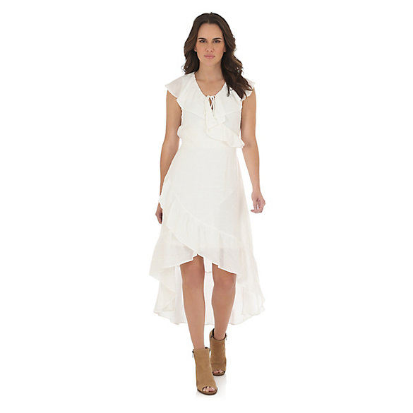 Women's Ruffle Hi-Lo Dress