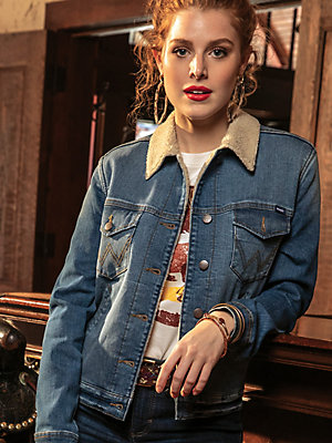 Women's Wrangler Retro® Sherpa Lined Denim Jacket