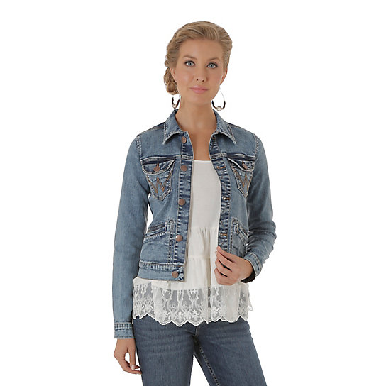 Women's Cropped Denim Jacket