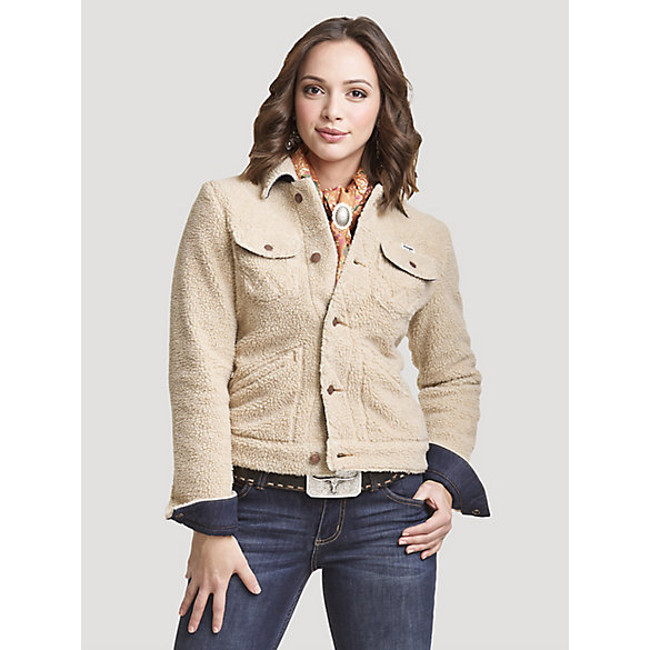 Women's Wrangler Retro® Allover Sherpa Denim Lined Jacket