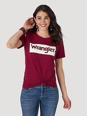 Women's Wrangler Retro® Short Sleeve Kabel Box Logo Tee