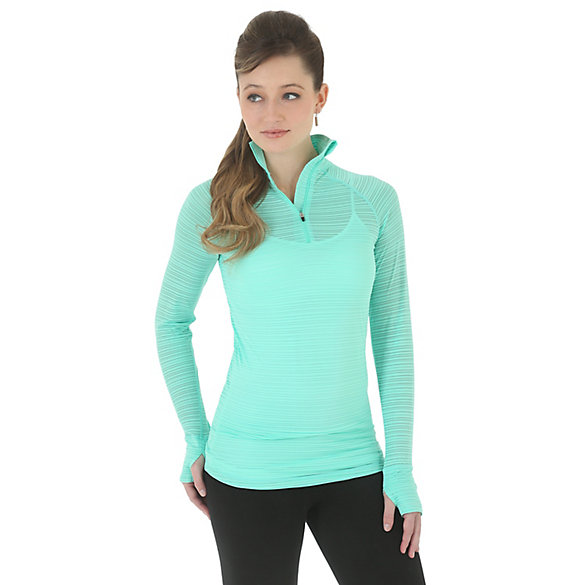 Cool Vantage™ Long Sleeve Performance Double Knit Wicking Jersey with Collar