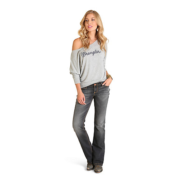 Women's Long Sleeve with Wrangler® Logo  Drapey Tee