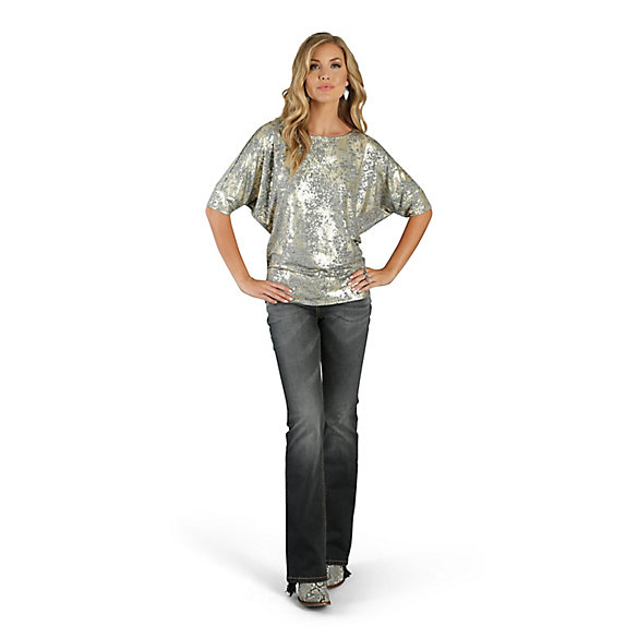 Women's Dolman Sleeve Printed Top