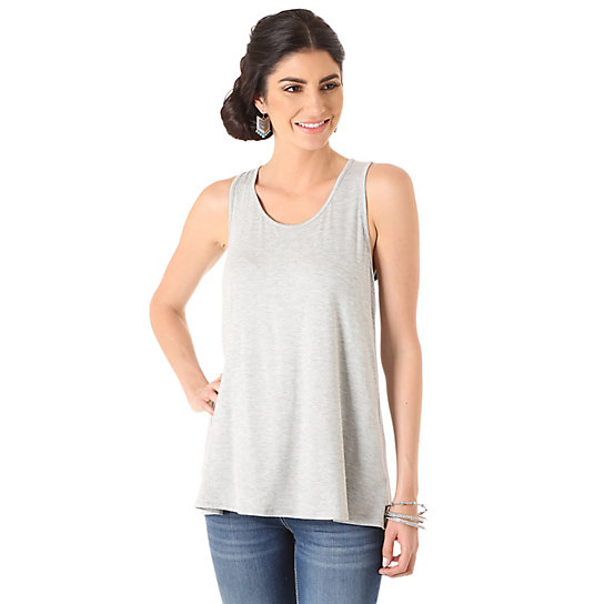 Women's with Bow at Center Back Solid Tank Top