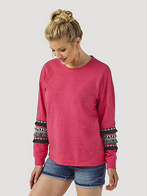 Women's Wrangler Retro® Aztec Tape Trim Sweatshirt