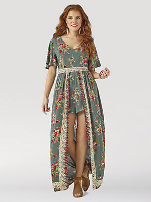 Women's Wrangler Retro® Floral Skirted Romper
