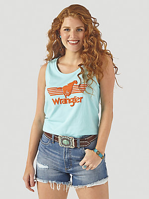 Women's Wrangler Retro® Horse Logo Graphic Tank